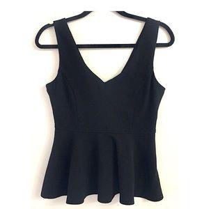 Black Peplum sleeveless top🖤
